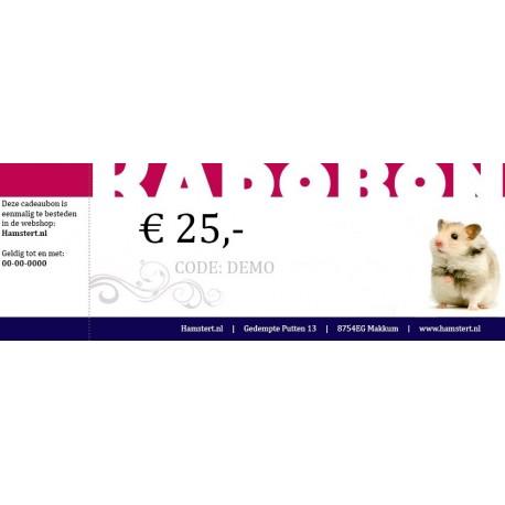 Cadeaubon ter waarde van 25 euro
